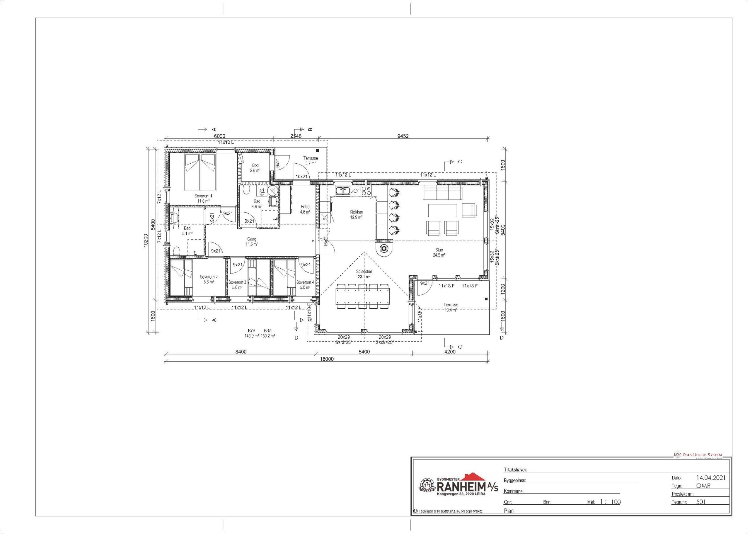 arkitekt tegning hytte og hus byggesøknad planlegging